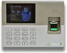 Timedox Silver Lx50 Biometric Fingerprint Time Clock Scanner