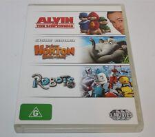Alvin & The Chipmunks, Dr Seuss! Horton Hears A Who! & Robots 3 Movies Dvd Pack
