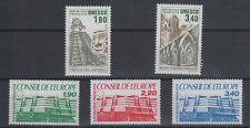 Conseil de l'Europe, 5 timbres n°91 à 95, année 1986**