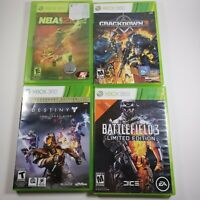 Microsoft Xbox 360 Game Lot - 5 Games Total Crackdown 2 Battlefield Destiny NBA