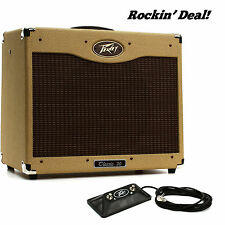 Peavey Classic 30 II 112-Tweed 30 watt Guitar Amp MINT! w/ Footswitch +FAST SHIP