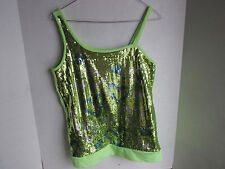 Justice Sequence Lime Green Top Blouse, Girls Size 20