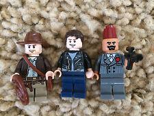 3 Lego Indiana Jones Minifigures Kezim Mutt Williams Venice Lot 10 7628 7197