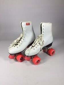 Chicago Women's Size 7 White Lace-Up Roller Skates Classic Quad
