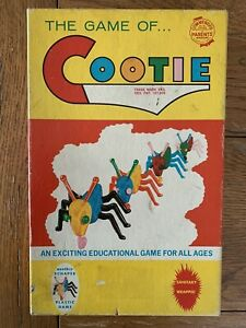 VINTAGE The Game of Cootie #200 1949 Schaper Plastic Game Manufacturing Co.