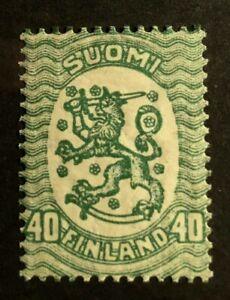 Finland Scott's #131b, Mint hinged, Type II, catalog value $125.00