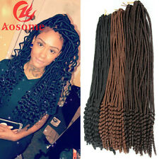 "18"" Afro Faux Locs Curly Ends Synthetic Crochet Braids Twist Locs Hair Extension"