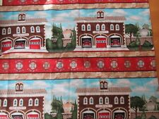 """Fire Station Repeating Vertical Stripe Cotton Fabric - VIP Exclusive 2 yds+30""""L"""