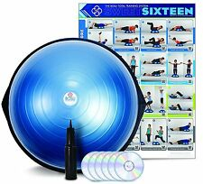 BOSU Ball Home Balance Trainer Yoga with 6 DVD Fitness Workout Video