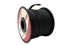Black 3/8 100ft Braided Expandable Tech Flex Sleeve Harness Loom Wire Cover