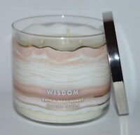 BATH BODY WORKS WISDOM QUARTZ CRYSTAL SCENTED CANDLE 3 WICK 14.5OZ LARGE VETIVER