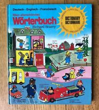 RIchard Scarry Vintage GERMAN Kids Dictionary Wortebuch English French Oversize