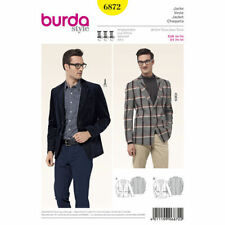Burda Style Schnittmuster - Jacke , Herrensakko , steigende Revers - Nr.6872