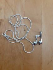 Sterling Silver Necklace And Pendant  music note 20inches