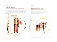 CLARINS Double Serum & Extra Firming Day Cream SAMPLE in CARD NEW FREE FAST SHIP