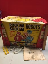 Vintage Rock'em Sock'em Robots Marx Vintage In Box W/ Instructions