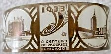 Century Of Progress Chicago 1933 World's Fair Bracelet various scenes near mint