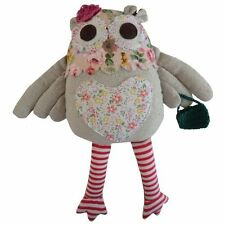 PATCHWORK OWL SOFT TOY - 20cm - POWELL CRAFT