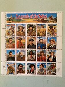 US Stamps SC# 2869 Legends of the West 29c sheet of 20 MNH 1994