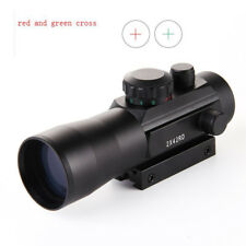 2x42 Green Red Cross Magnification Sight Rifle Scope For 11mm Rail Airsoft