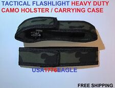 2- CAMO HOLSTER / CARRY CASE for use with Atomic Beam USA Tactical Flashlight