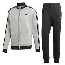 88091-Adidas Relax Warm Tracksuit Tuta Grigia in Cotone Da Uomo DV2444