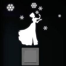 PEGATINAS LUMINOSAS INTERRUPTOR LUZ FLUORESCENTE Hielo Prinzessin pared 10832