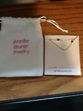 JENNIFER ZEUNER Star Double Necklace NEW Stainless Steel, Yellow Gold Plated