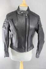 Increíble Vintage 1980's/1990's Lewis Leathers Negro Chaqueta De Motorista Talla 12