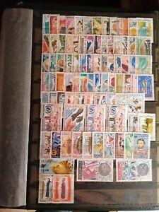 Lot 80 timbres MAURITANIE neufs et oblitérés période années 1970-1980