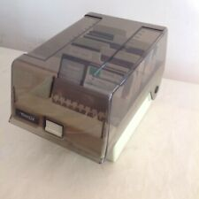 TANDY 5.25 Computer Floppy Disk File Storage Case 5 1/4 with 5 Dividers Vintage