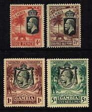 Gambia 1922-29 King George V set to 5s., MH (SG#118/121)