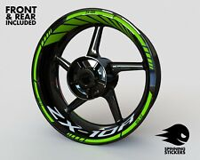 - RIM STICKER KIT - Fits Kawasaki ZX-10R ZX10-R ZX10R Decals Wheel Stripes Tape