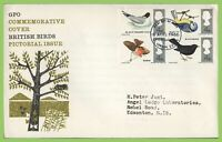 G.B. 1966 Birds ordinary set on GPO First Day Cover, Bureau London