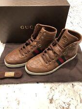 Authentic Mens Gucci Coda Sneaker Brown Guccissima Leather Size US 8 (Gucci 7)