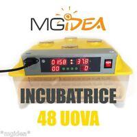 INCUBATRICE 48 UOVA SCHIUSA AUTOMATICA DISPLAY LCD + KIT SVEZZAMENTO incubator