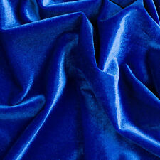 "Stretch VELVET Royal Blue Fabric / 58"" Wide / Sold by the yard"
