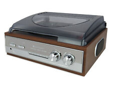 soundmaster PL186H Retro FM Radio Record Player With Built in Speakers