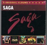 SAGA - 5 ORIGINAL ALBUMS 5 CD NEW+