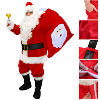 DELUXE SANTA CLAUS COSTUME PROFESSIONAL FATHER CHRISTMAS ADULTS XMAS FANCY DRESS