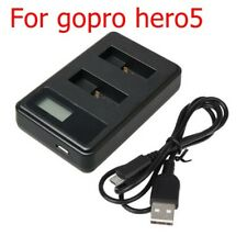 Useful LCD Camera Battery Black Dual USB Charger For GoPro HD AHDBT-501 Hero 5/6