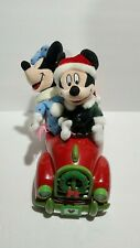 Vintage 1995 Gemmy Mickey & Minnie Singing Christmas Songs In Car Lights Up