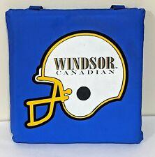 Vintage Windsor Canadian Football Helmet Stadium Seat Cushion Pad Whiskey Blue