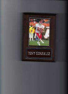 TONY GONZALEZ PLAQUE KANSAS CITY CHIEFS KC FOOTBALL NFL