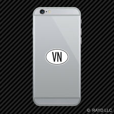 VN Vietnam Country Code Oval Cell Phone Sticker Mobile Vietnamese euro