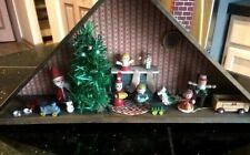 Antique Christmas Toys Decoration Wood House