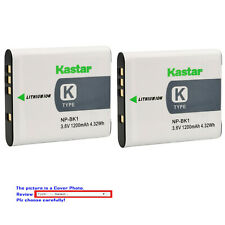 Kastar Battery BK1 for Sony NP-BK1 Type K Cybershot DSC-S750 W370 Bloggie MHS