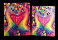 Lisa Frank Notebook & Folder Giraffe Pepper & Penelope Glitter Spiral Notebook