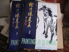 Paintings By Xu Beihong Vols 1 and 2 Pei Hong Beijing 1981