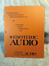 1970s Esoteric Audio Brahma Research Cable etc  3 Page Brochure Pamphlet Booklet